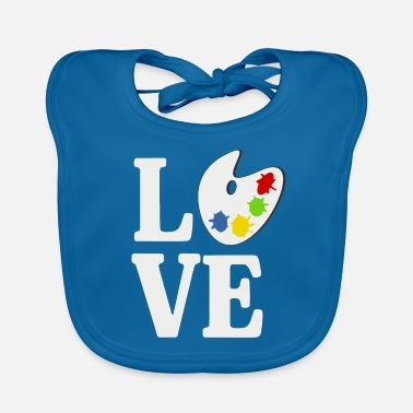 LOVE PAINT shirt gift idea paint painter drawing - Baby Bib