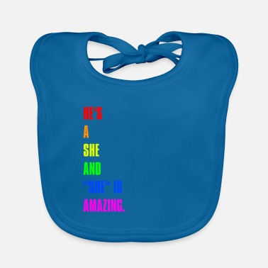 Triangle Gay Pride Rights Csd Pride Statement lgbt gift - Baby Bib