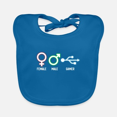 Male Friend Or Female Friend female male gamer gift - Baby Bib