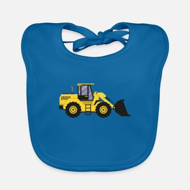 Wheel loader T-shirt from the construction site gift - Baby Bib