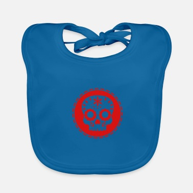 Pirate Party Mexican Skull - Skull Red - Baby Bib