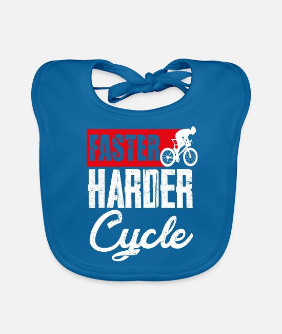 Cycling Baby Bibs - Biking Bike Bike Biker Biking Gift - Baby Bib peacock-blue