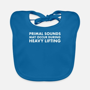 Primal Gym Grunter Fitness Workout Primal Sounds Noise - Baby Bib