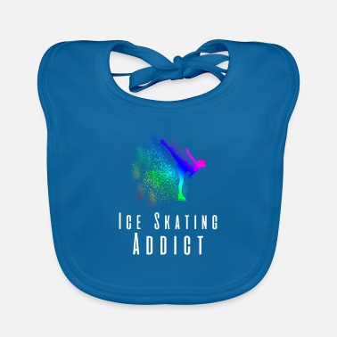 Always Ice skating running hobby - Baby Bib