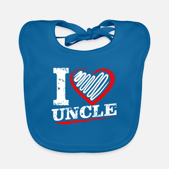 Gift Idea Baby Clothes - uncle - Baby Bib peacock-blue