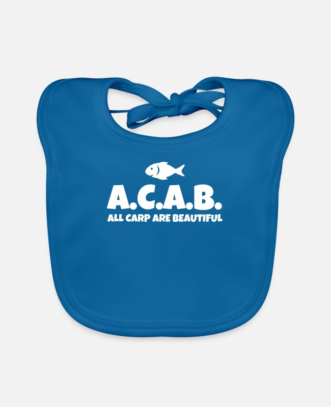 Policy Baby Bibs - ACAB All Carp Are Beautiful - Baby Bib peacock-blue