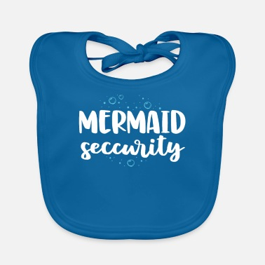 Mermaid Mermaid Security Swim Team Shirt Women Swimmer - Baby Bib