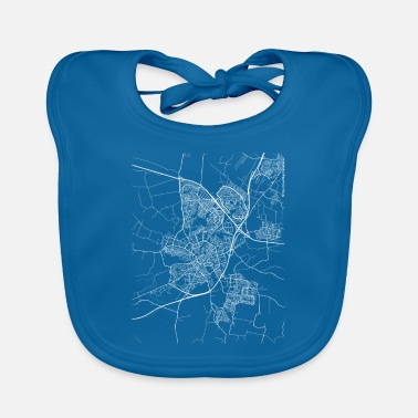 Amersfoort Minimal Amersfoort city map and streets - Baby Bib