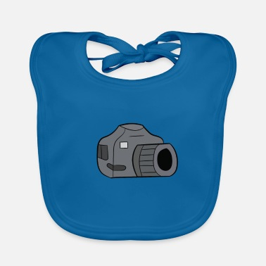 Slr Photographer - camera, SLR - Baby Bib