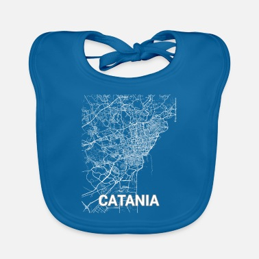 Catania City Catania city map and streets - Baby Bib