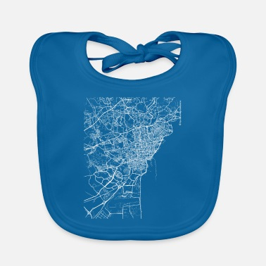 Catania City Minimal Catania city map and streets - Baby Bib