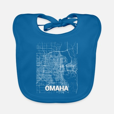 Omaha Omaha city map and streets - Baby Bib