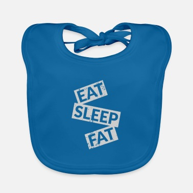 Stamp Eat sleep fat quote - Baby Bib