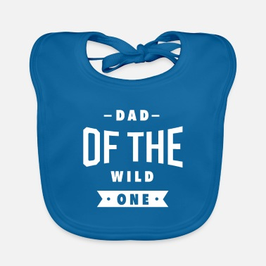 Xmas Mens Dad of the Wild One Shirt Plaid Lumberjack - Baby Bib