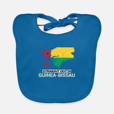 Soccer Straight Outta Guinea-Bissau country map - Baby Bib
