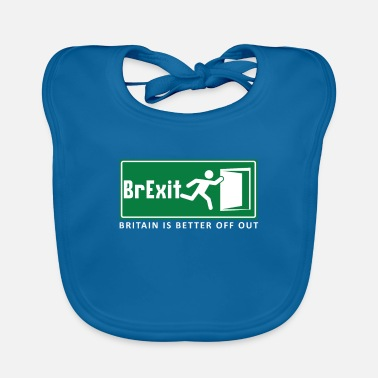 London Brexit British UK Brexit Europe Exit Gift - Baby Bib