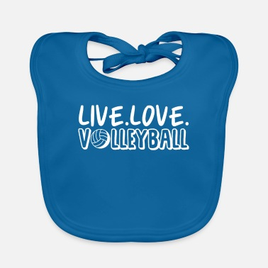 Beach Volleyball Live Love Volleyball - Baby Bib