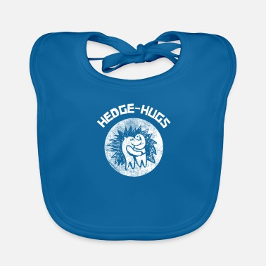 Sarcastic Hedge-hugs Hedgehog Hugs Animal Lover Inktober Gif - Baby Bib