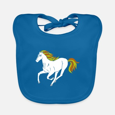 Pony Dressage horses and foals like the stable - Baby Bib