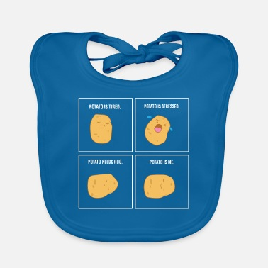 Food Potato Meme I'm A Potato - Baby Bib