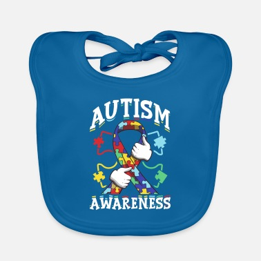 Awareness Ribbon Autism Awareness Ribbon Autism Awareness Supporter - Baby Bib