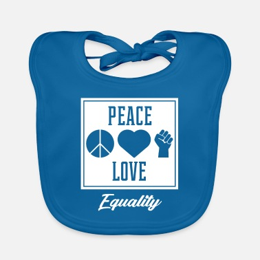 Truth Peace Love Equality - Protest Diversity - Baby Bib
