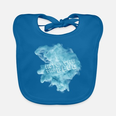 Blue Into the blue - into the blue - blue smoke - Baby Bib