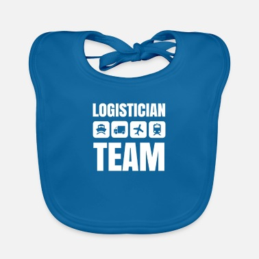 Manager Logistician team gift forwarding logistics - Baby Bib
