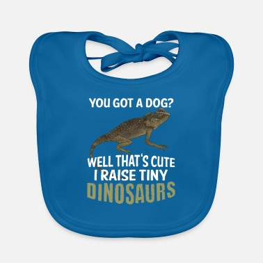 Crest Funny Mountain Horned Dragon Pet Reptile Dracaena - Baby Bib