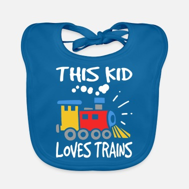 Railway This kid loves trains / kids railroad - Baby Bib