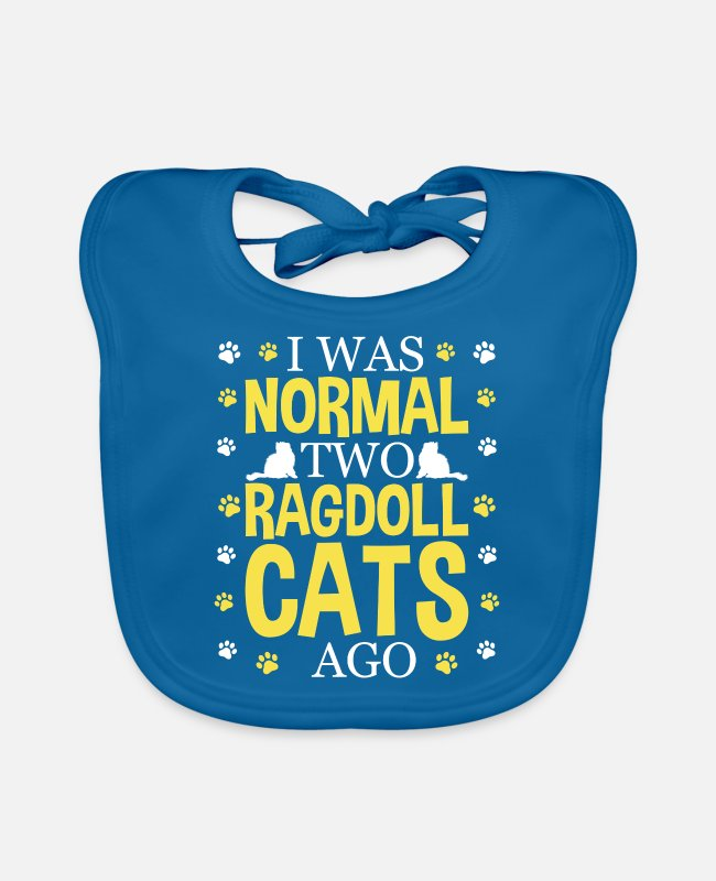 Cats Baby Bibs - I was normal two Ragdoll Cats ago, cat owners - Baby Bib peacock-blue