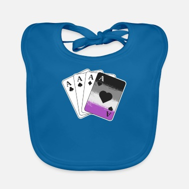 Cards Ace Asexual Pride Gifts Playing Card LGBTQ Pride - Baby Bib