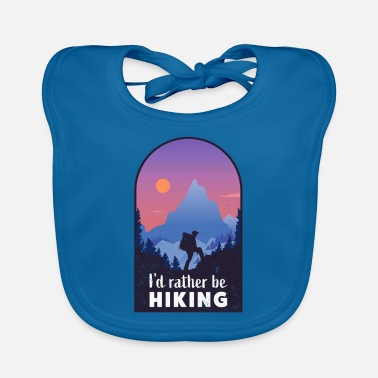 National Hiking Funny Mountain Gift for Hiker - Baby Bib