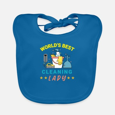 Cleaning Lady Cleaning lady cleaning assistant ladies gift - Baby Bib