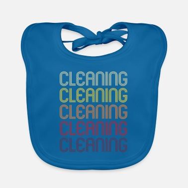Cleaning Lady Cleaning cleaning clean cleaning lady retro gift - Baby Bib
