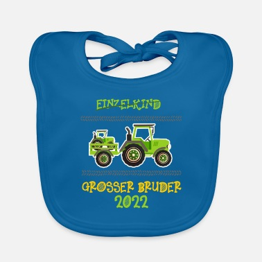 Siblings Big Brother Shirt Tractor 2022 - Baby Bib