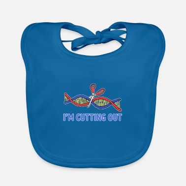 Cut Out I Am Cutting Out Crispr Cas9 Graffiti Gene Editing - Baby Bib