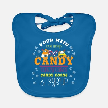 Candy Cane Four Main Food Groups Candy Candy Canes Candy - Baby Bib