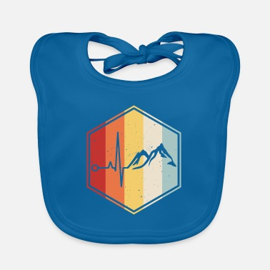 Uncle Hiking mountaineer mountains heartbeat climbing - Baby Bib