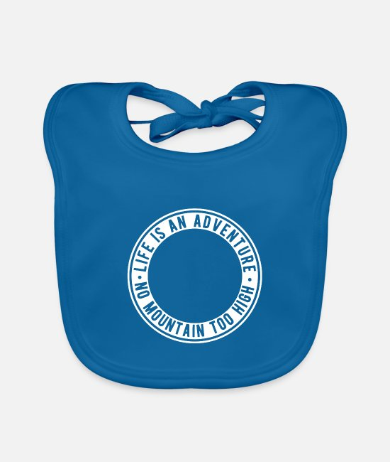 Camper Baby Bibs - Freedom adventure mountains gift idea - Baby Bib peacock-blue