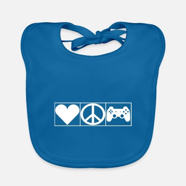 Leible Love, Peace and Gaming - Leibl Designs - Baby Bib