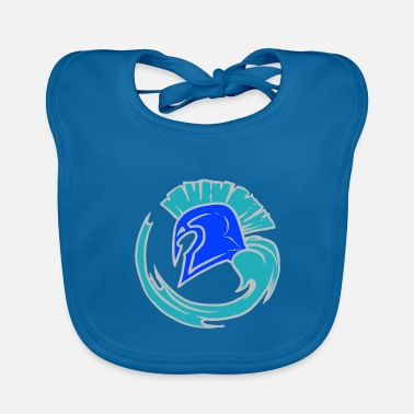 Leible Cool Blue Spartahelm - Leibl Designs - Baby Bib