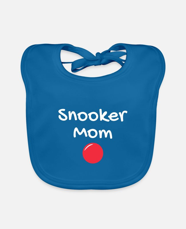 Cue Baby Bibs - Snooker mom - Baby Bib peacock-blue