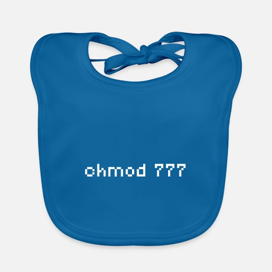 Program Baby Clothes - Linux - Open Source Lover - Baby Bib peacock-blue