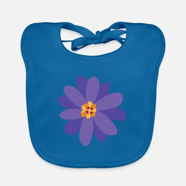 Collections Flower summer purple - Baby Bib