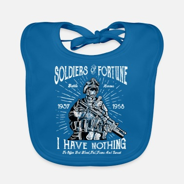 Soldier Of Fortune SOLDIERS OF FORTUNE - Fighter and Soldier Shirt - Baby Bib