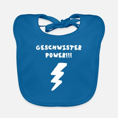 Fratelli germani Power Blitz Nerdy Super Power Family - Bavaglino ecologico per neonato
