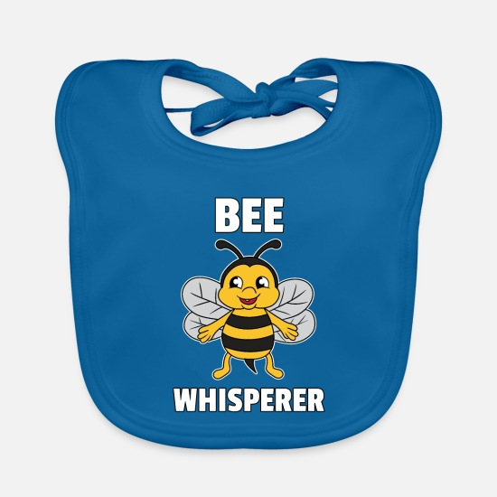 Birthday Baby Clothes - Bee Bees Honey Honey Bee Save Gift - Baby Bib peacock-blue