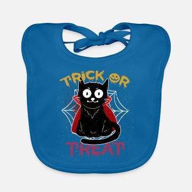 Halloween Cat Vampire Trick or Treat Pumpkin Halloween Kid - Baby Bib