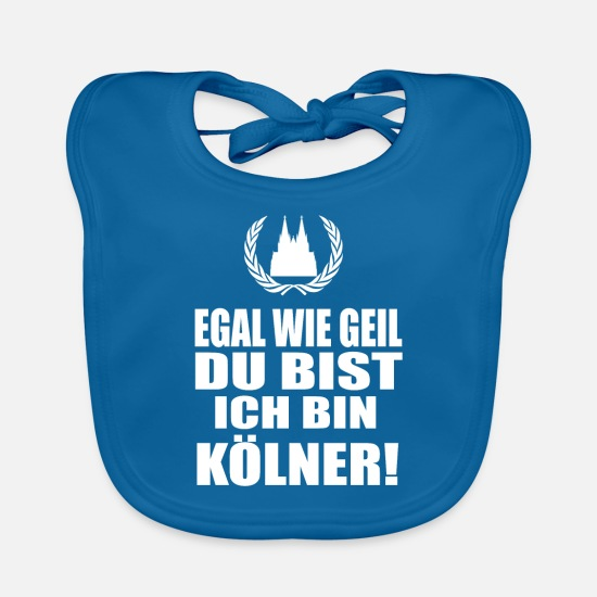 Cologne Cathedral Baby Clothes - Cologne - Baby Bib peacock-blue